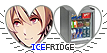 APH IceFridge Hearts Couple Stamp by World-Wide-Shipping