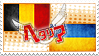 Hetalia BelgUkr Stamp by World-Wide-Shipping