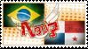 Hetalia Brazanama Stamp by World-Wide-Shipping