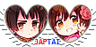 APH JapTai Hearts Couple Stamp by World-Wide-Shipping