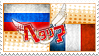 Hetalia RusFra Stamp by World-Wide-Shipping