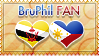 Hetalia BruPhil Fan - Stamp by World-Wide-Shipping