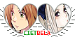 APH LietBela Hearts Couple Stamp by World-Wide-Shipping