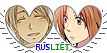 APH RusLiet Hearts Couple Stamp by World-Wide-Shipping
