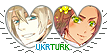 APH UkrTurk Hearts Couple Stamp by World-Wide-Shipping
