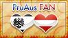 Hetalia PruAus Fan - Stamp by World-Wide-Shipping