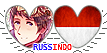 APH RussIndo Hearts Couple Stamp by World-Wide-Shipping