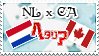 Hetalia NL x CA - Stamp by World-Wide-Shipping