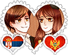 SerbMont OTP Stamp by World-Wide-Shipping