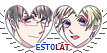APH EstoLat Hearts Couple Stamp by World-Wide-Shipping