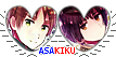 APH AsaKiku Hearts Couple Stamp by World-Wide-Shipping