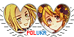 APH PolUkr Hearts Couple Stamp by World-Wide-Shipping