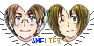 APH AmeLiet Hearts Couple Stamp