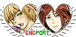 APH Eng(Fem!)Port Hearts Couple Stamp by World-Wide-Shipping