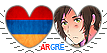 APH ArGre Hearts Couple Stamp by World-Wide-Shipping