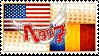Hetalia AmeRo Stamp by World-Wide-Shipping