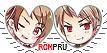 APH RomPru Hearts Couple Stamp by World-Wide-Shipping