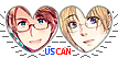 APH USCan Hearts Couple Stamp by World-Wide-Shipping