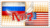 Hetalia RusAme Stamp by World-Wide-Shipping