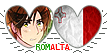 APH Romalta Hearts Couple Stamp by World-Wide-Shipping