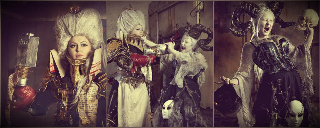 Warhammer Inquisition vs Chaos Cosplay (WH 40 000) by alberti