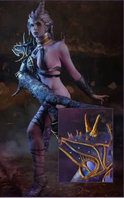 Warhammer 40,000 Cosplay - Pauldron for Demonette