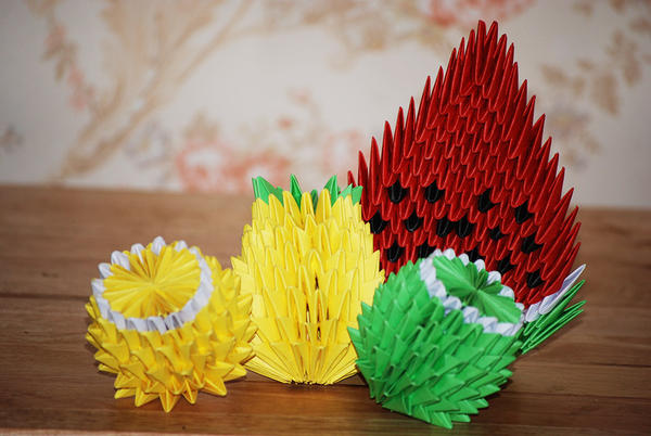 3d Origami Fruit By Honeybee249 On Deviantart