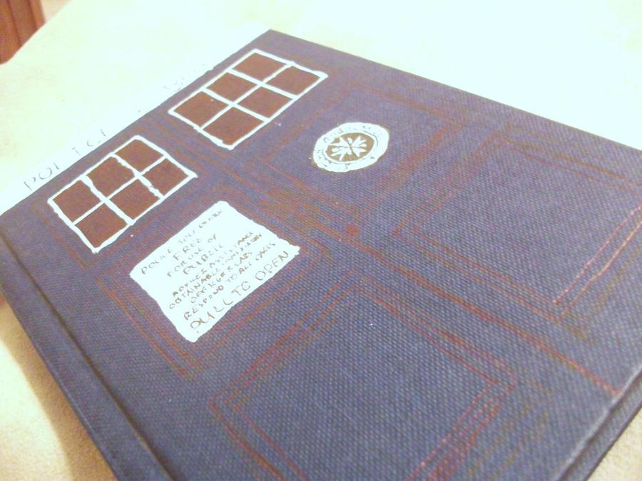 TARDIS book by fairycheese