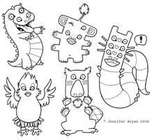 The Crocodile's Friends by creaturekebab