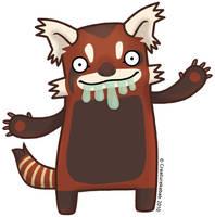 Smazz the Red Panda by creaturekebab