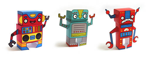 Robot Paper Toys
