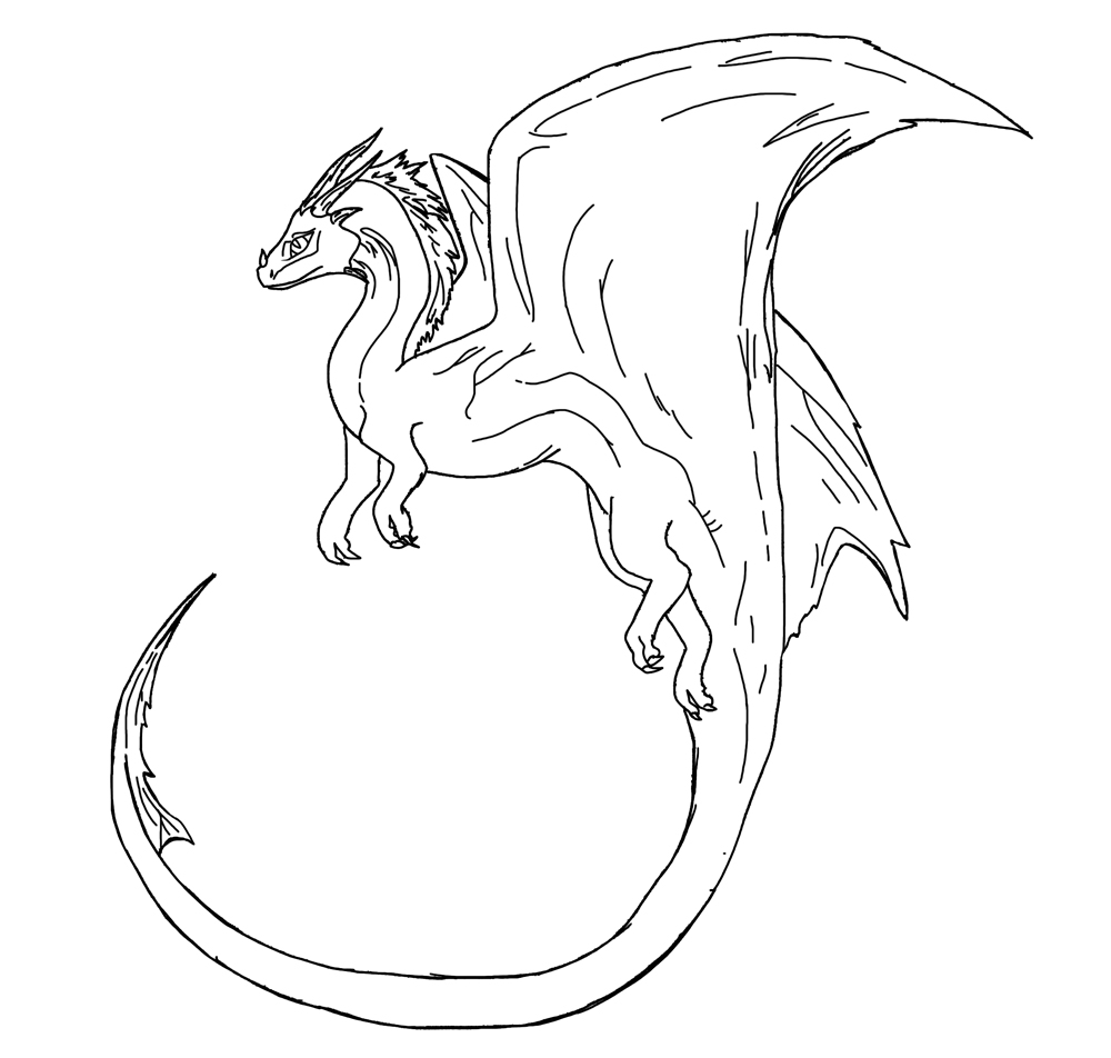 Dragon Line Drawing Easy : Free dragon lineart by draconic on deviantart