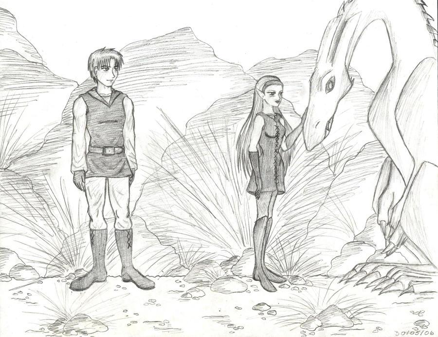 Eragon and Arya Anime Style by Eragon And Arya Drawings
