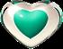 Heart Teal 2 Small  By Iytj-d86m4ub by iytj