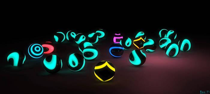 Glowing ...