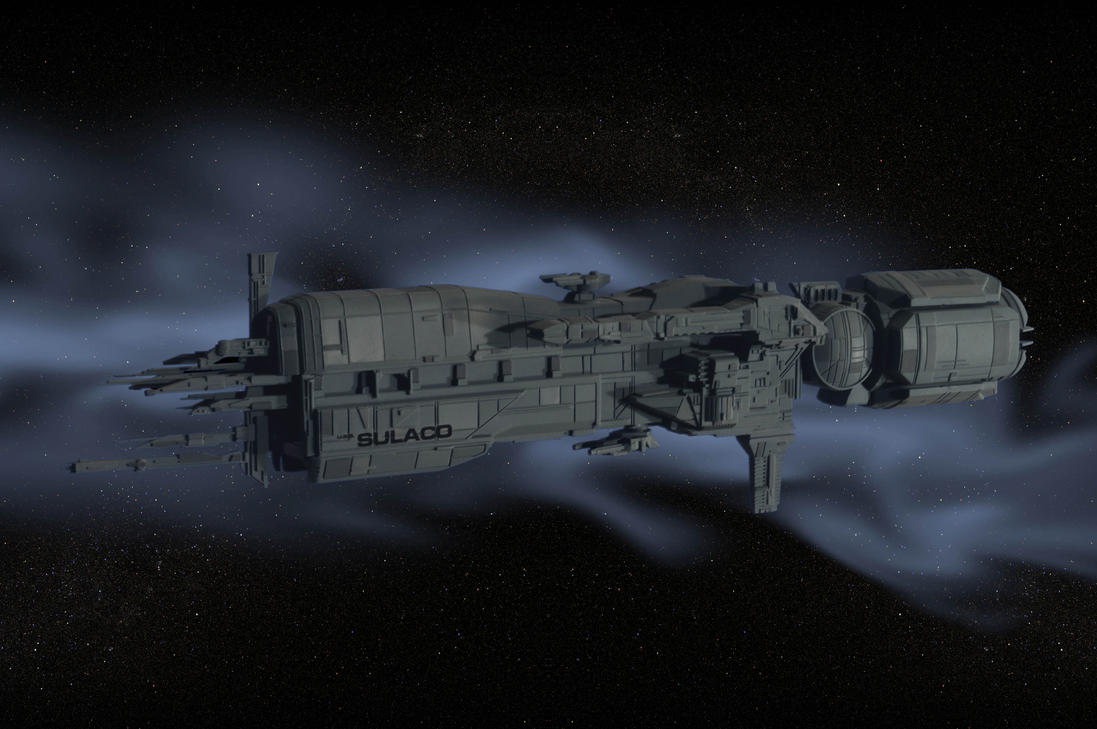 Sulaco in Deep Space by Robby-Robert