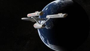 Enterprise in standard orbit