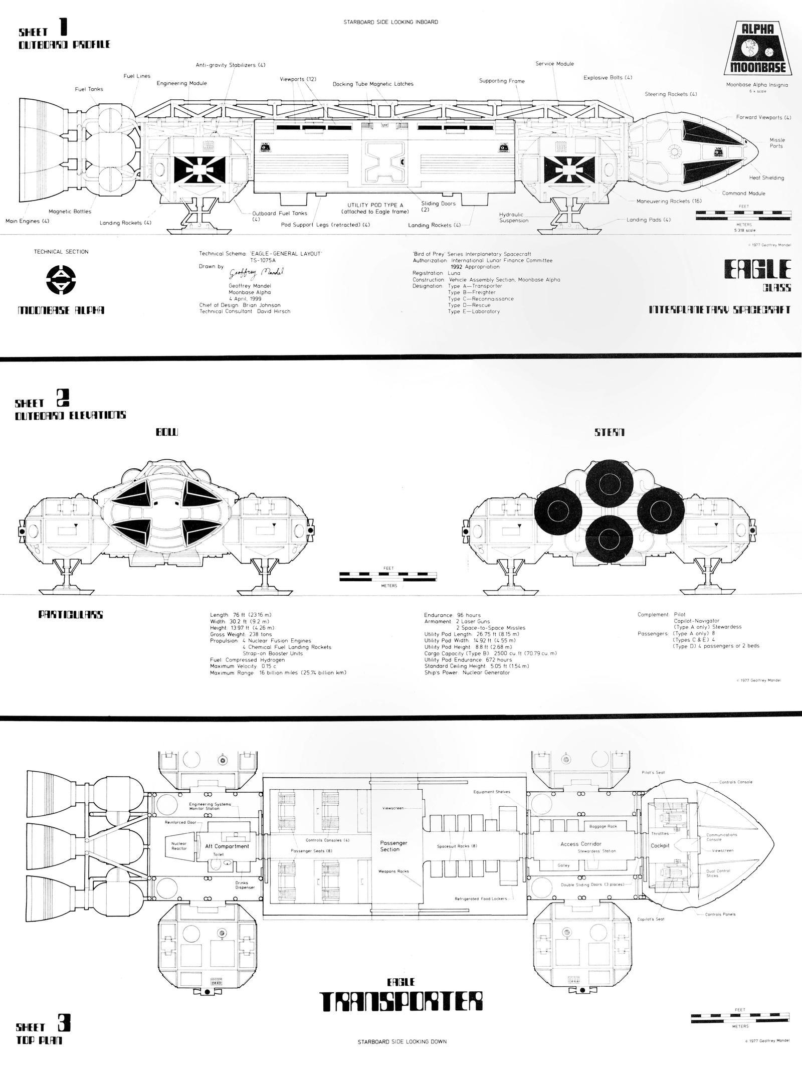 space 1999 eagle blueprints pdf