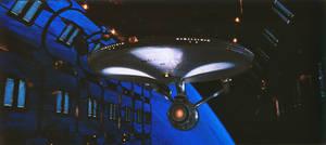 The Enterprise in drydock