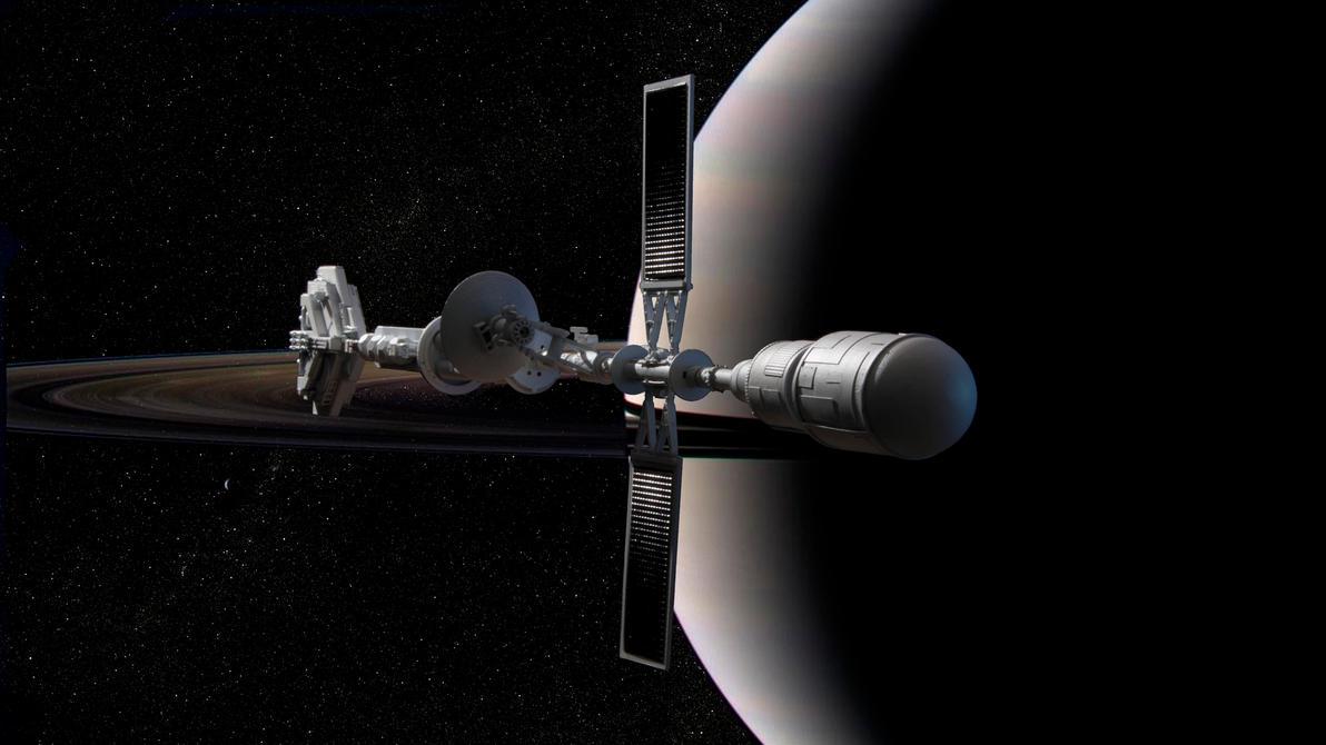 Reeve in Saturn orbit by Robby-Robert