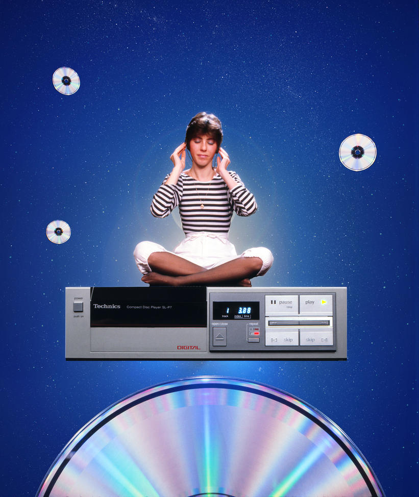 Cd player ad concept from the 80's by Robby-Robert