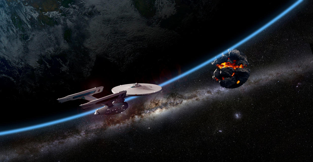 Enterprise enroute to aid Praxis by Robby-Robert