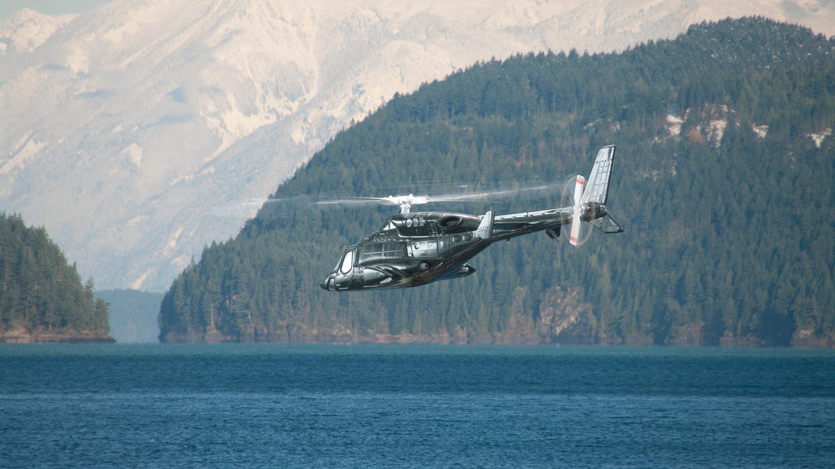 Airwolf over Harrison Lake by Robby-Robert
