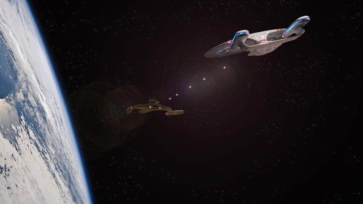 Eat hot photon torpedoes Klingons! by Robby-Robert