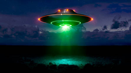 Neon Saucer by Robby-Robert