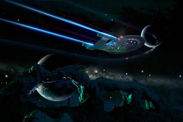 Enterprise over Proteus 4 by Robby-Robert