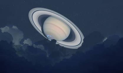 Saturn Rising by Robby-Robert