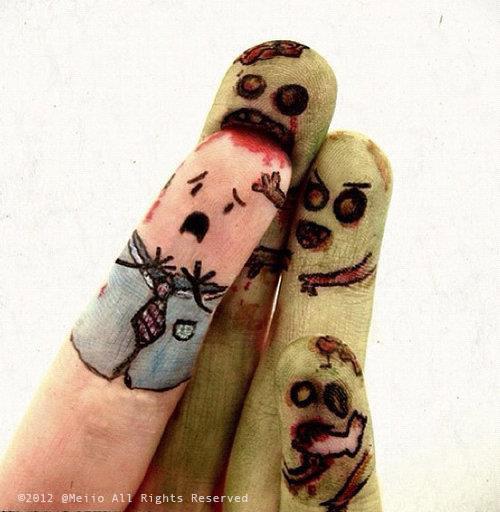Zombie fingers by Swebliss