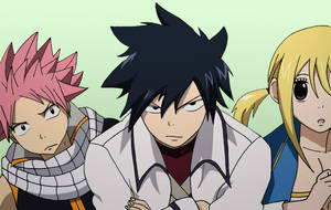 Natsu , Gray and Lucy by vigortheillustrator