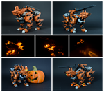 Zoids FZ-002   Konig Wolf Mk-II 'Kerberos' Pumpkin by MaiasaLiger